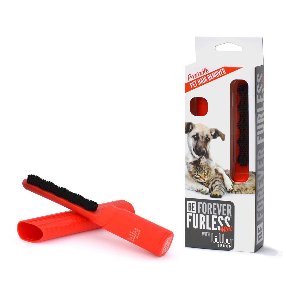 Lilly Brush Pet Hair Remover - Red