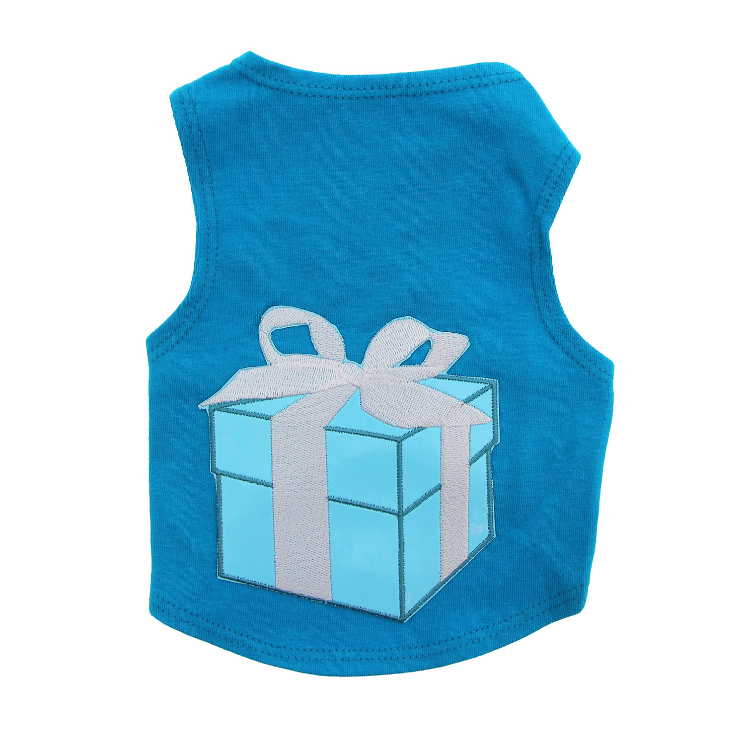 Little Blue Box Dog Tank by Daisy and Lucy - Blue