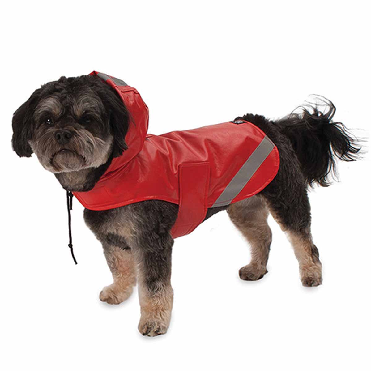 London Dog Rain Slicker - Red