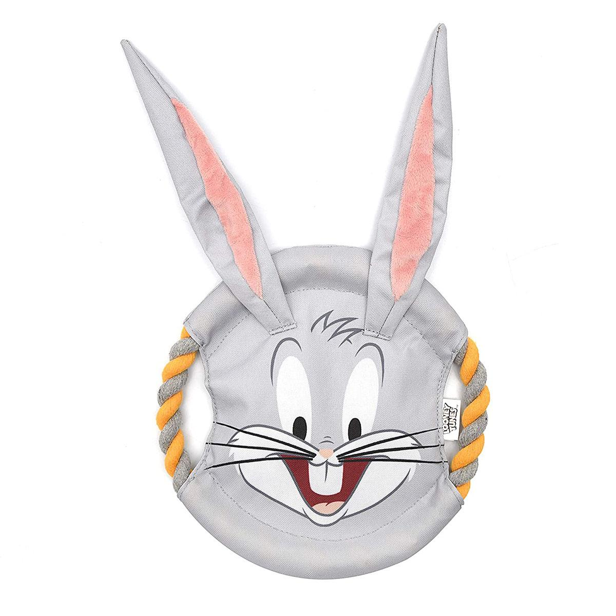 Looney Tunes Bugs Bunny Rope Frisbee Dog Toy