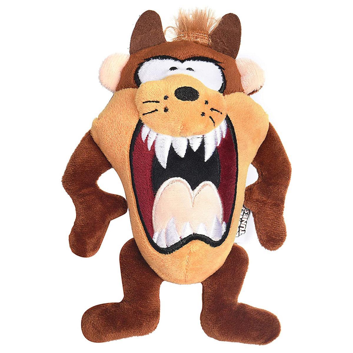 Looney Tunes Taz Big Head Plush Dog Toy