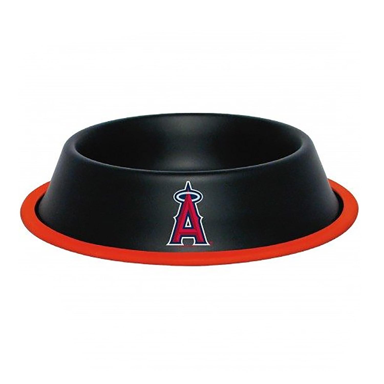 Los Angeles Angels Dog Bowl - Black