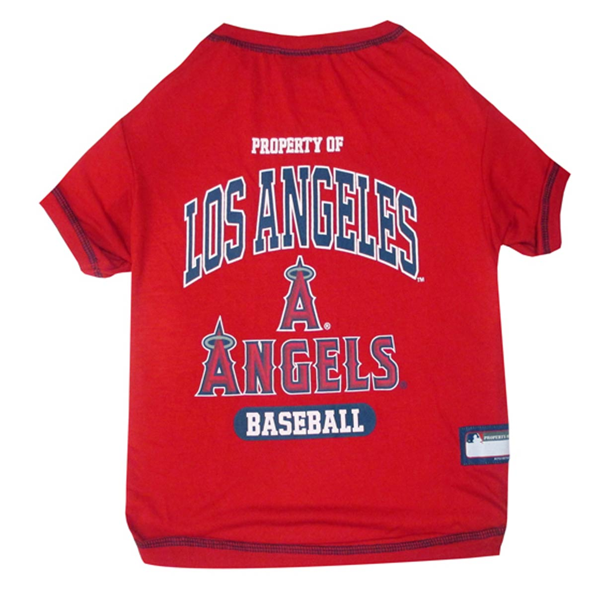 Los Angeles Angels Dog T-Shirt - Red