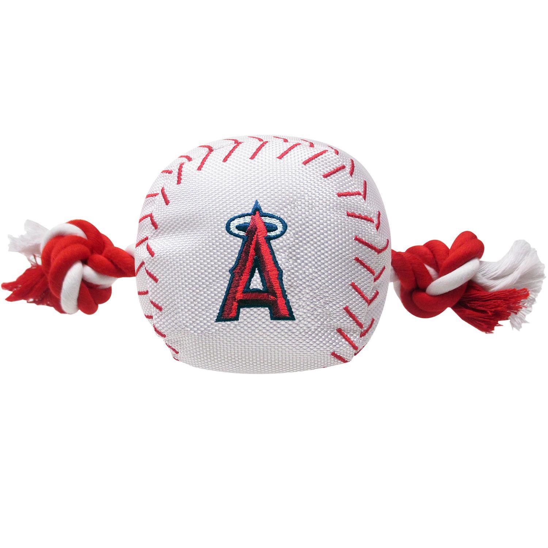 Los Angeles Angels Nylon Plush Baseball Rope Dog Toy