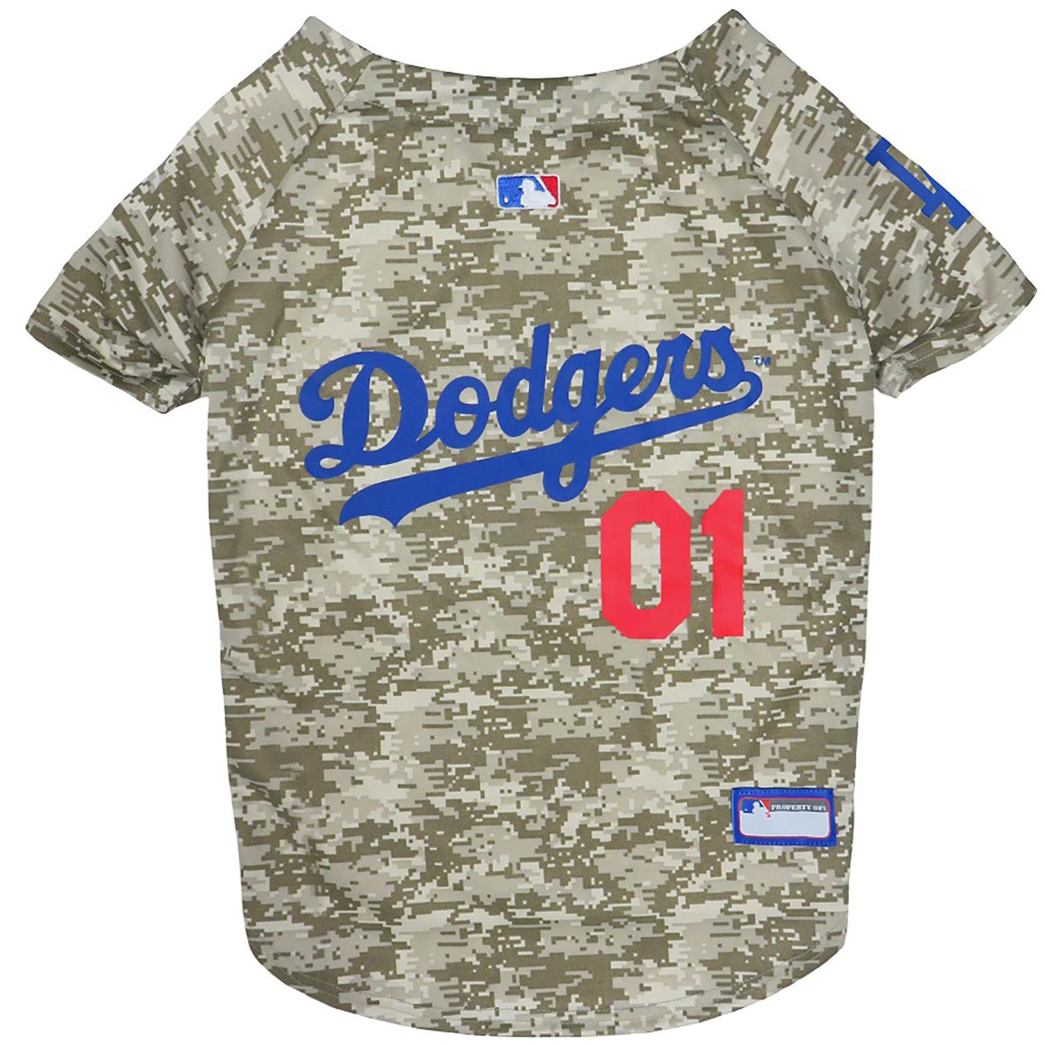 new concept 358c3 6a7bb Los Angeles Dodgers Dog Jersey - Camo