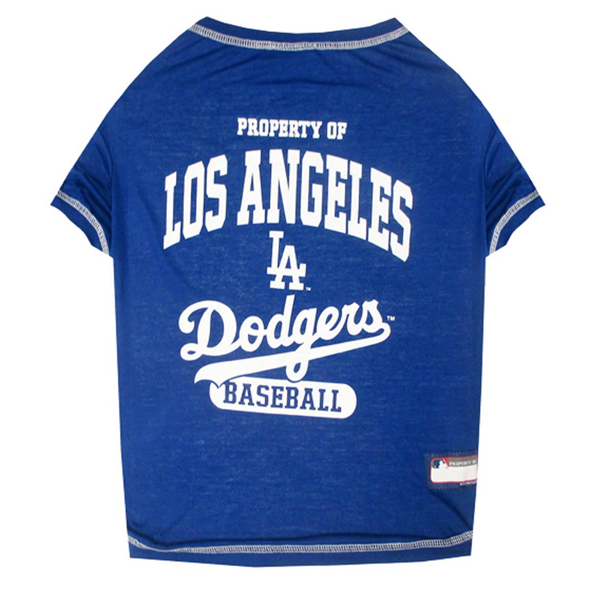 Los Angeles Dodgers Dog T-Shirt - Blue