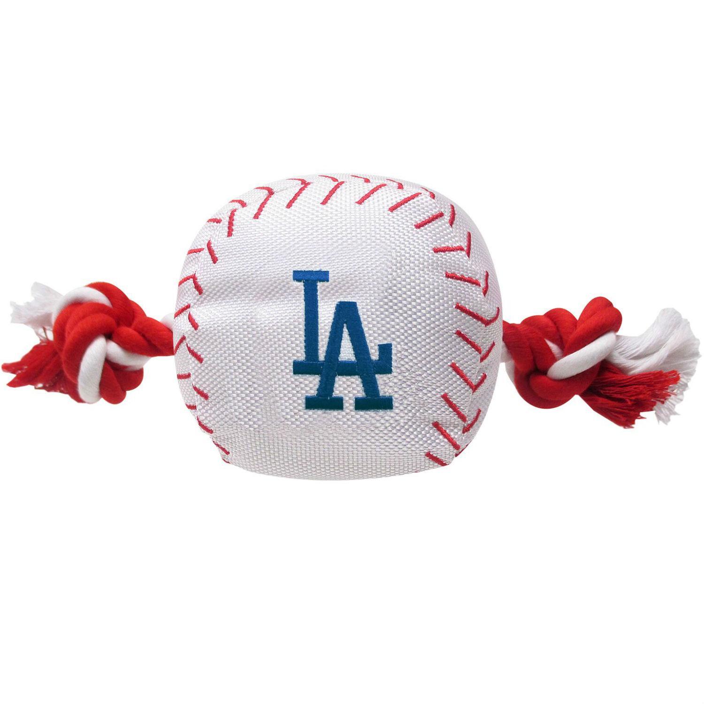 Los Angeles Dodgers Nylon Plush Baseball Rope Dog Toy