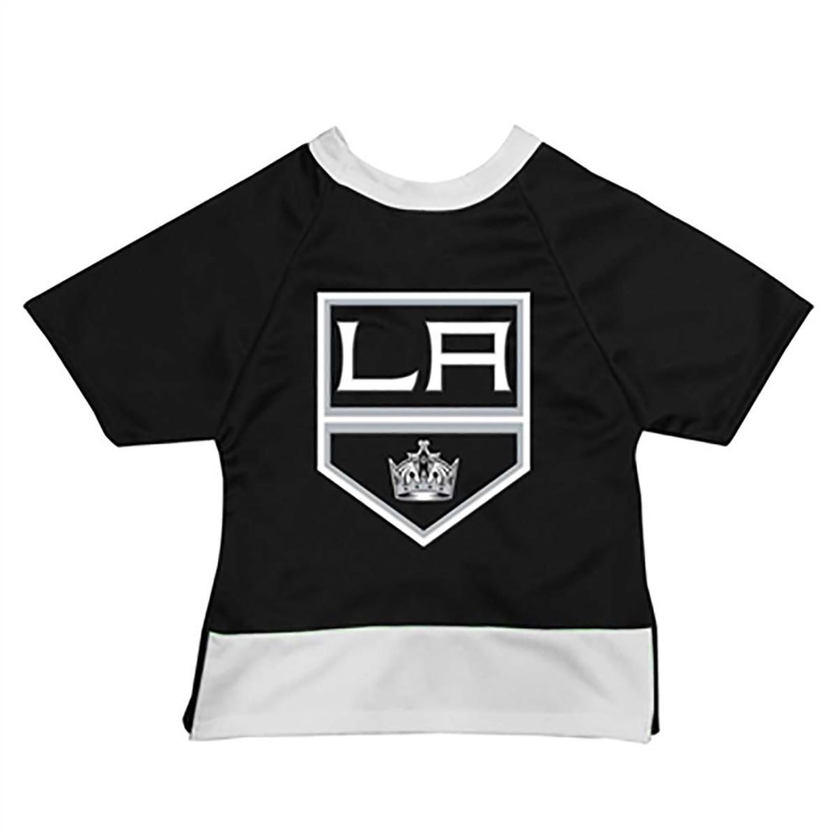 Los Angeles Kings Mesh Dog Jersey - Black with White Trim