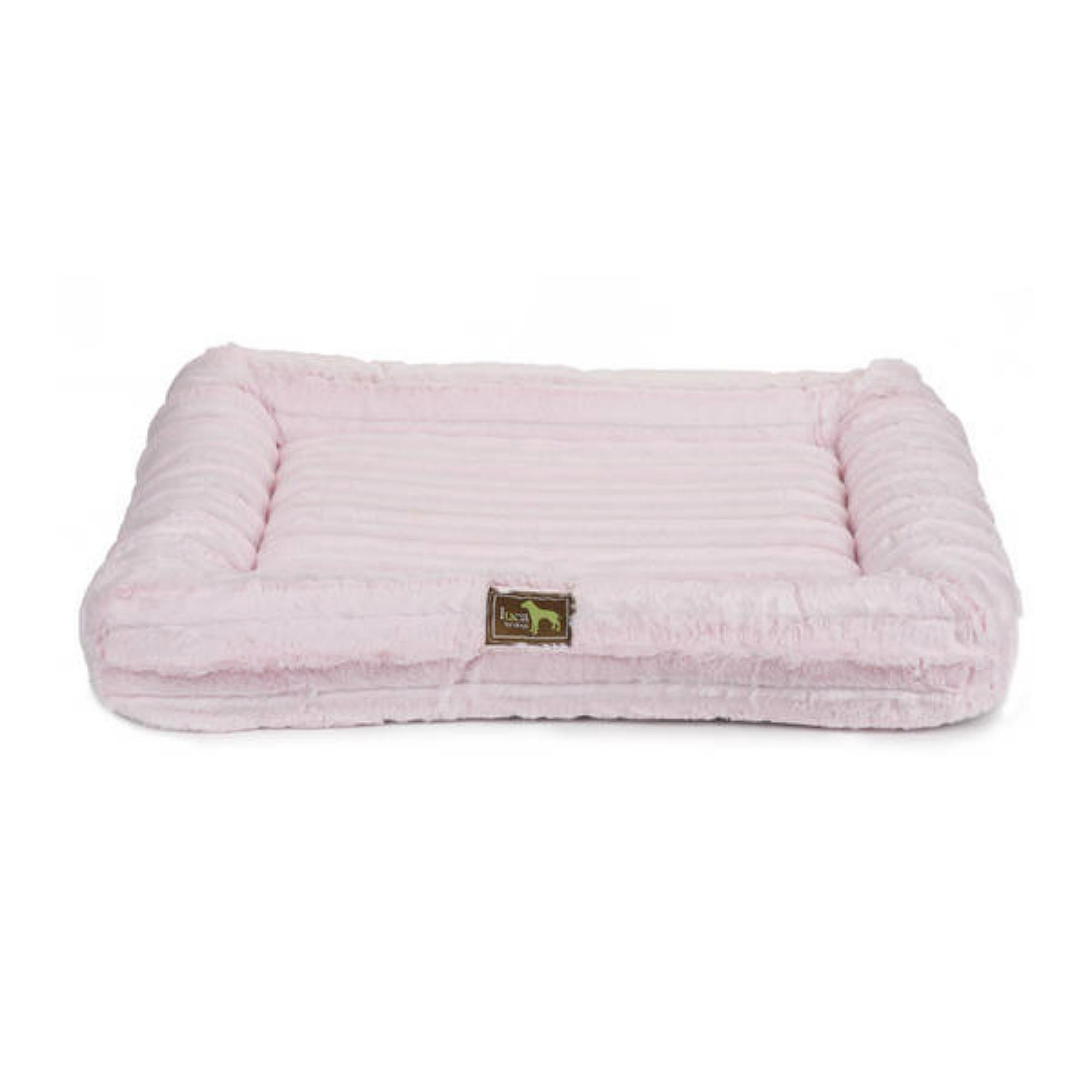 Luca Crate Cuddler Chinchilla Dog Bed - Baby Pink
