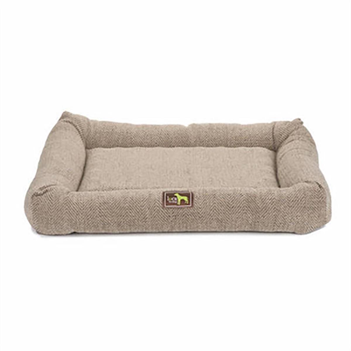 Luca Crate Cuddler Dog Bed - Cobblestone Tweed