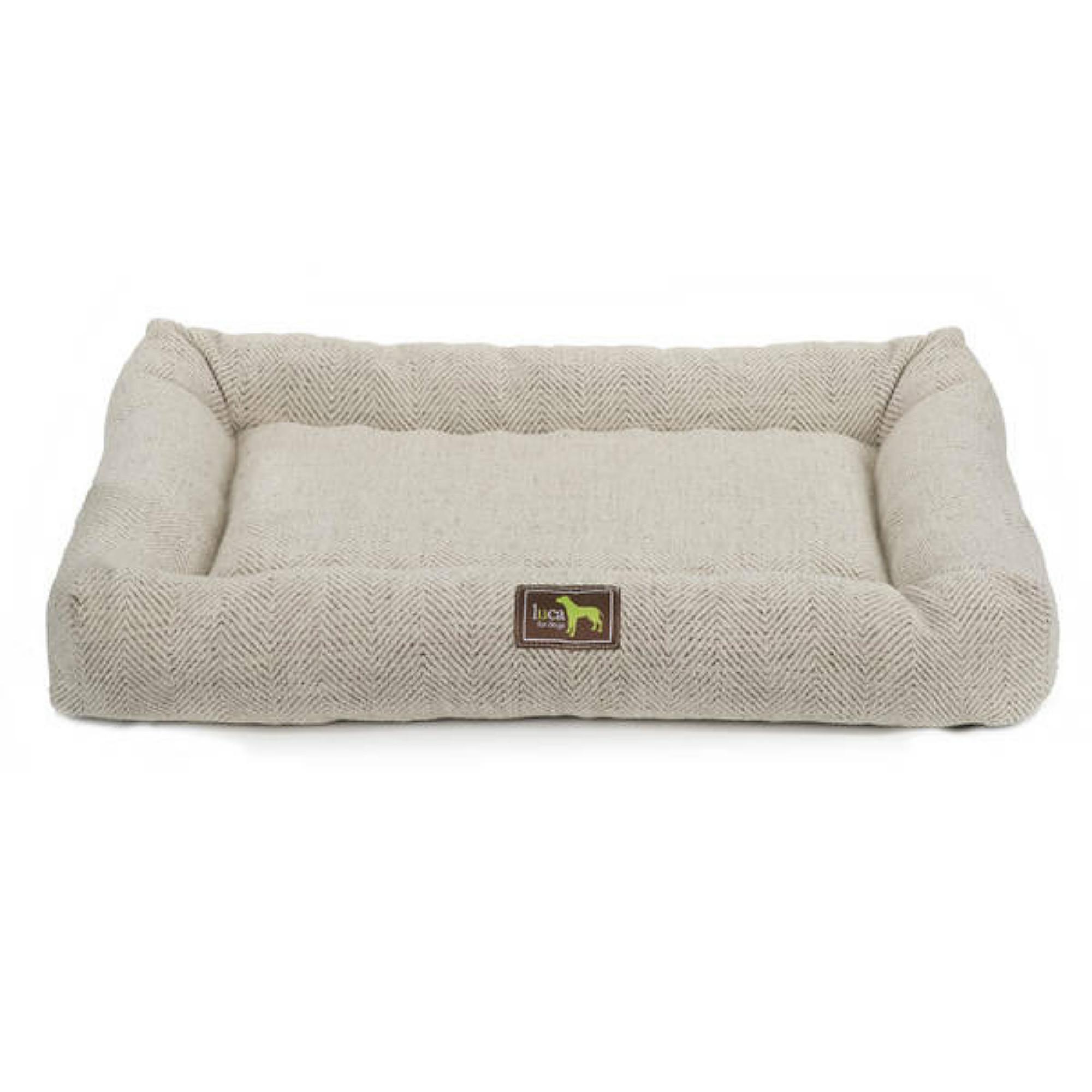 Luca Crate Cuddler Dog Bed - Oyster Tweed