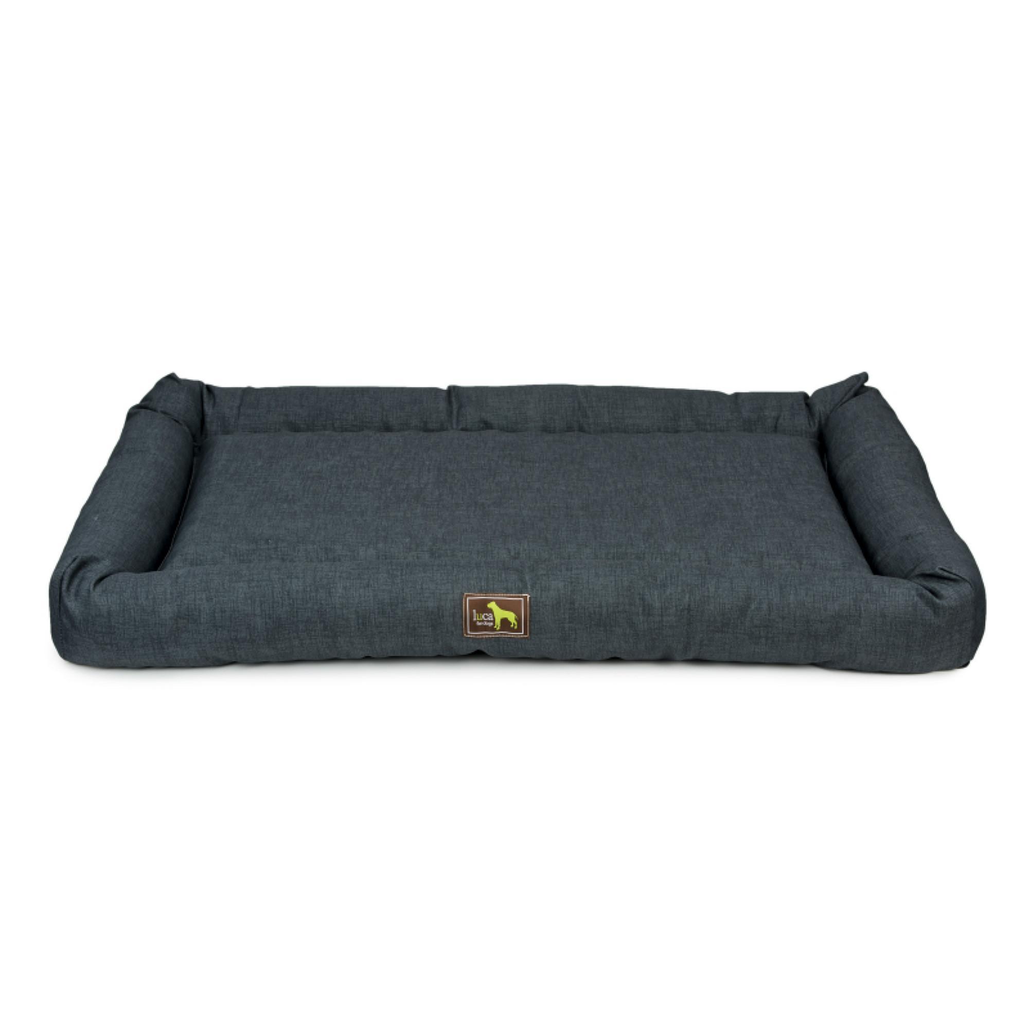 Luca Indoor/Outdoor Crate Cuddler Dog Bed - Charcoal