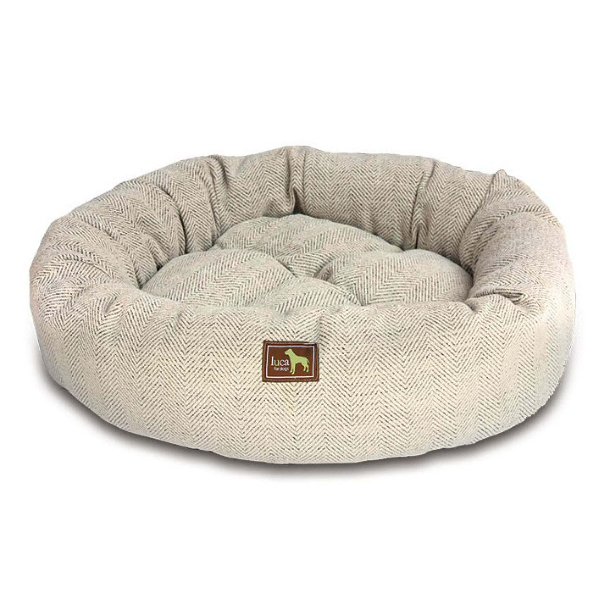Luca Nest Dog Bed - Oyster Tweed