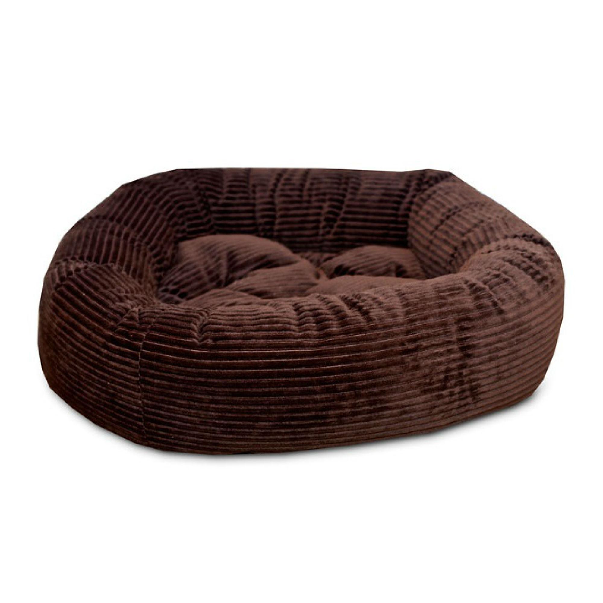 Luca Nest Dog Bed - Chocolate Corduroy