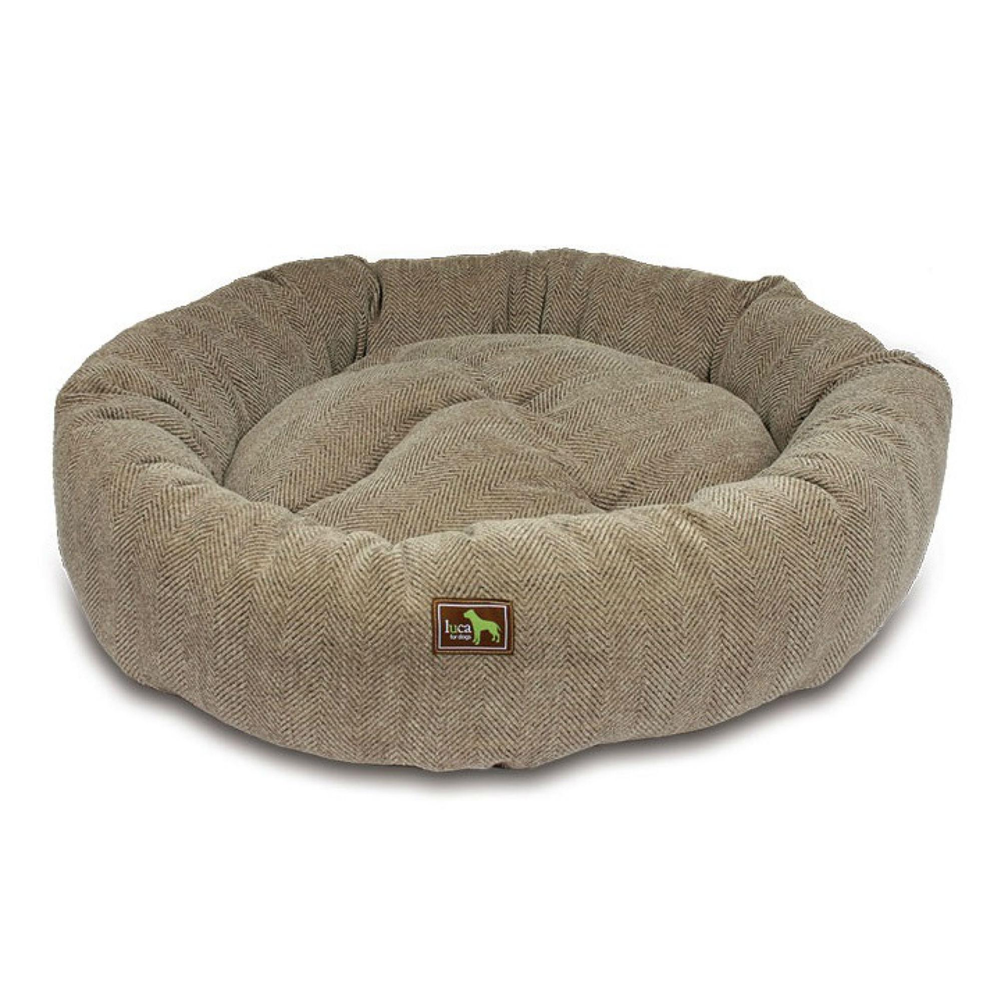 Luca Nest Dog Bed - Cobblestone Tweed