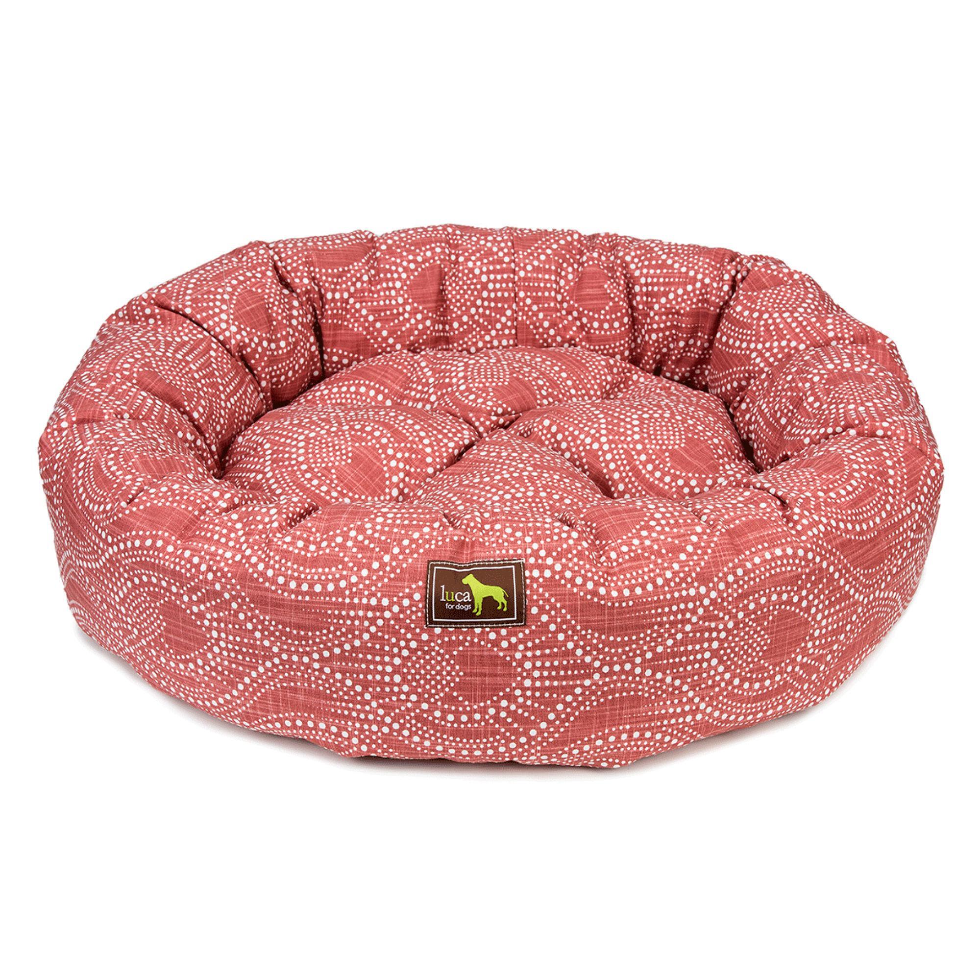 Luca Nest Dog Bed - Scarlet