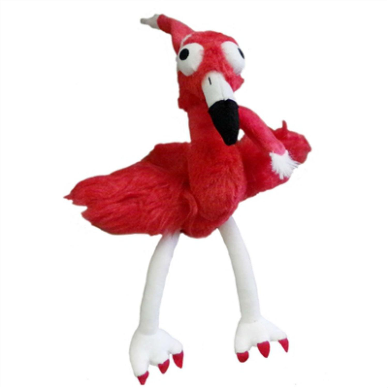 Lulubelles Holiday Power Plush Dog Toy - Santa Flo Rida Flamingo