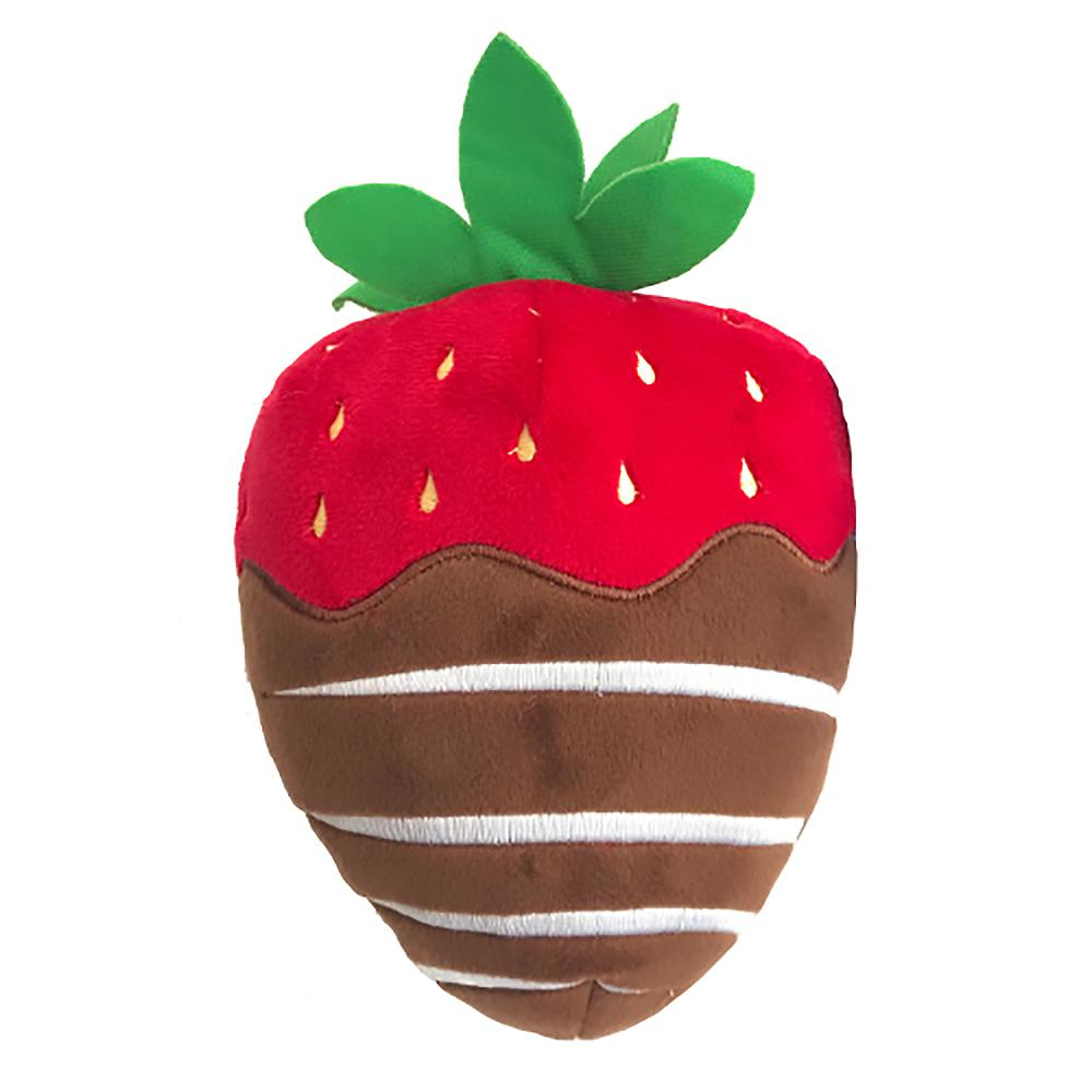 Lulubelles Power Plush Dog Toy - Chocolate Dipped Strawberry