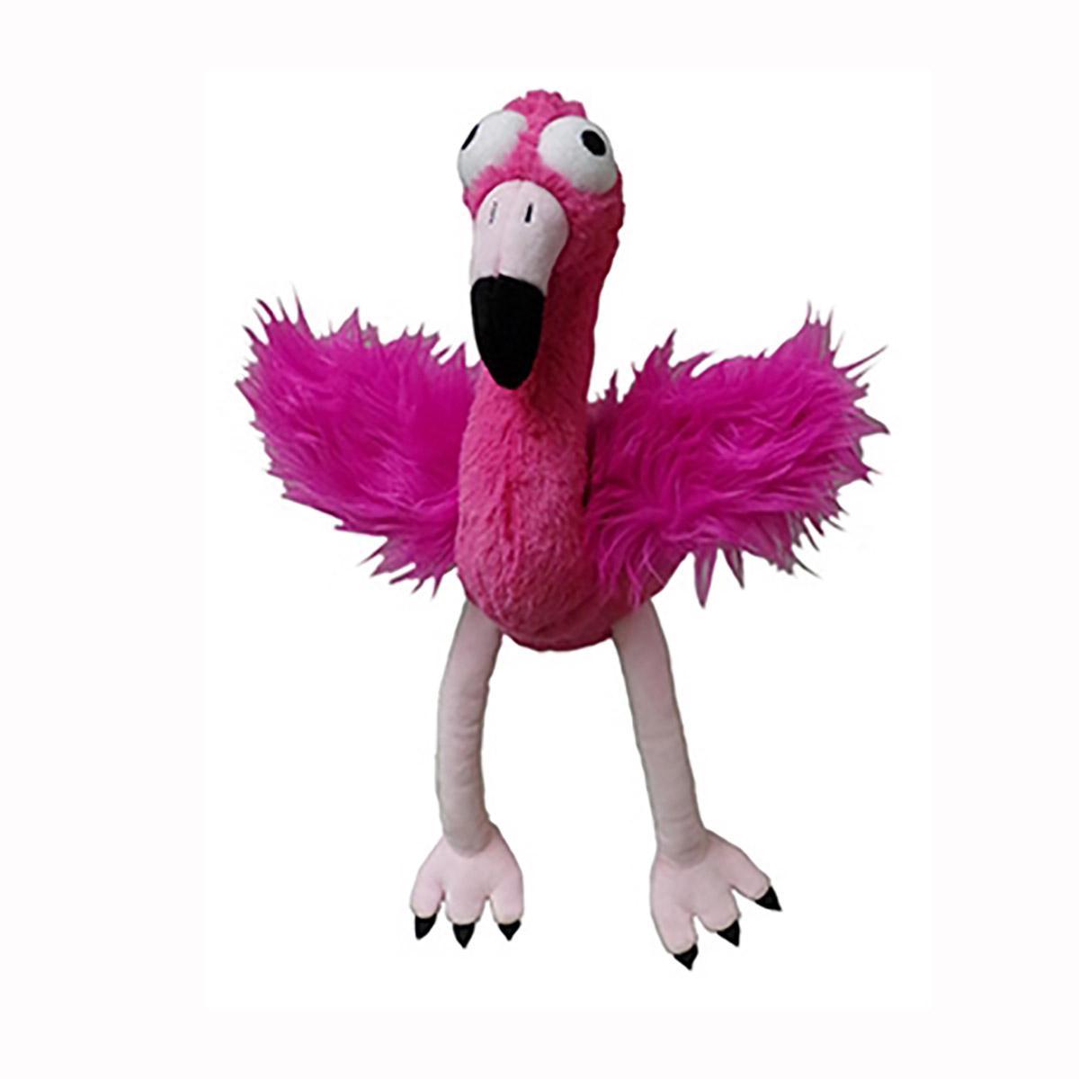Lulubelles Power Plush Dog Toy - Flo Rida Flamingo