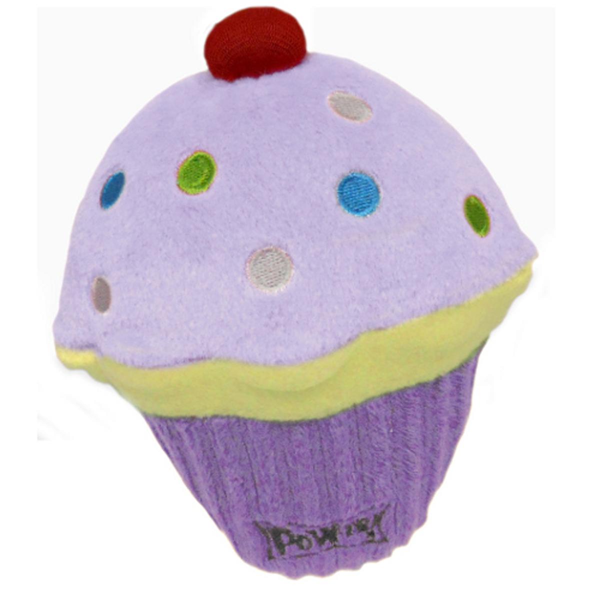 Lulubelles Power Plush Dog Toy - Purple Pupcake