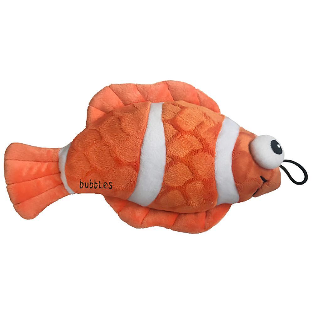 Lulubelles Power Plush Dog Toy - Bubbles the Clownfish