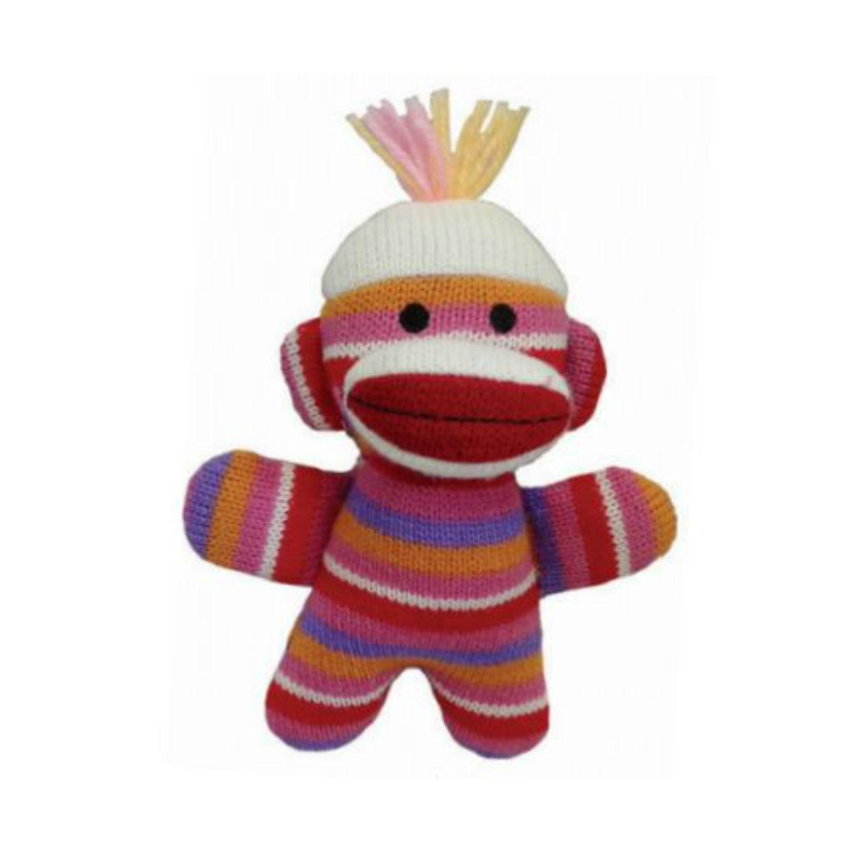 Lulubelles Power Plush Dog Toy - Sock Monkey Baby Kitty