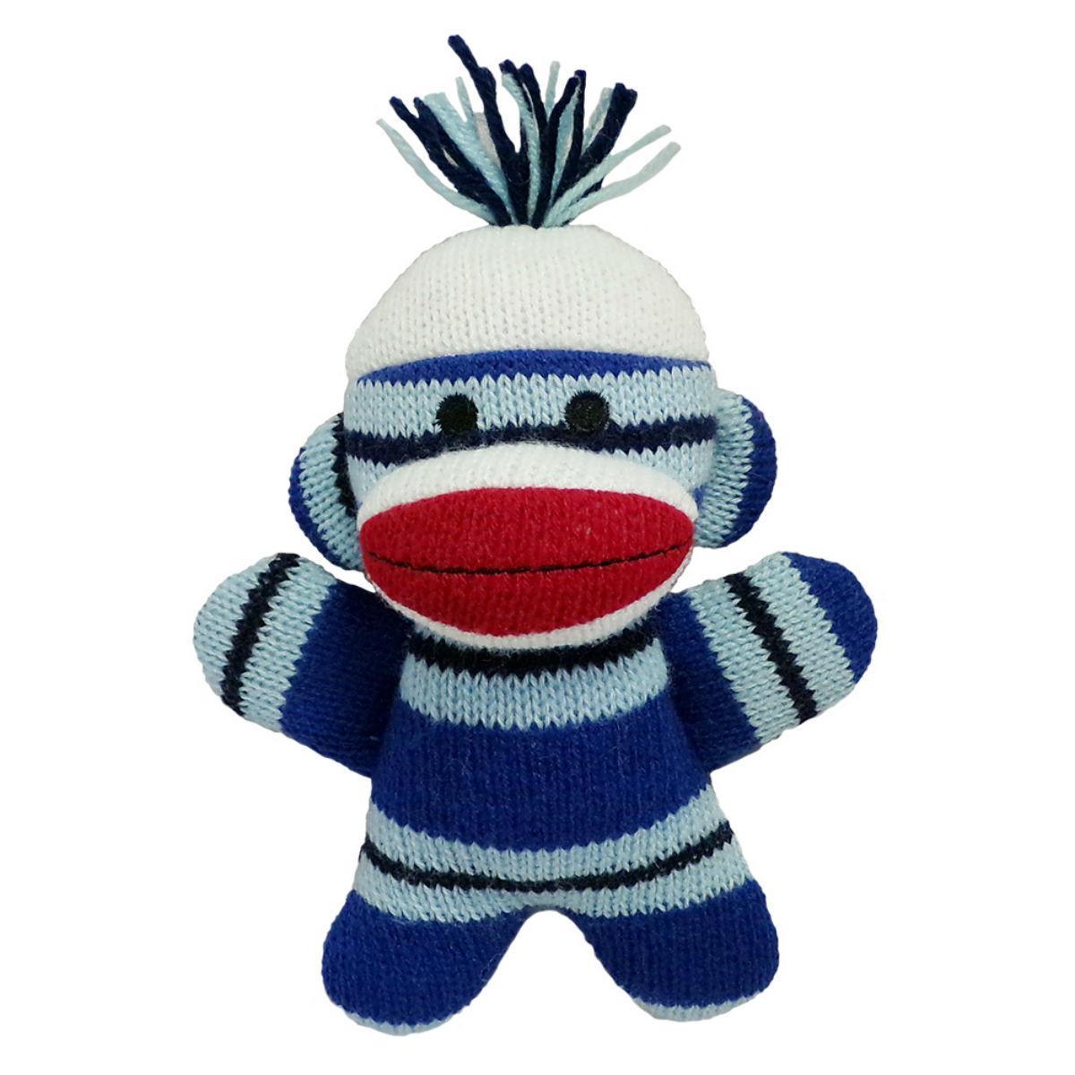 Lulubelles Power Plush Dog Toy - Sock Monkey Baby Mikey