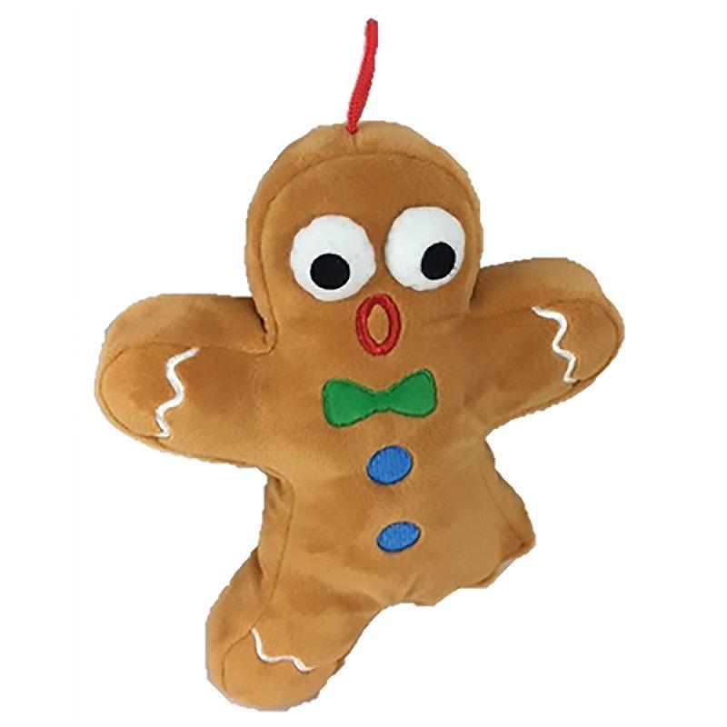 Lulubelles Power Plush Holiday Dog Toy - Ginger Snapped
