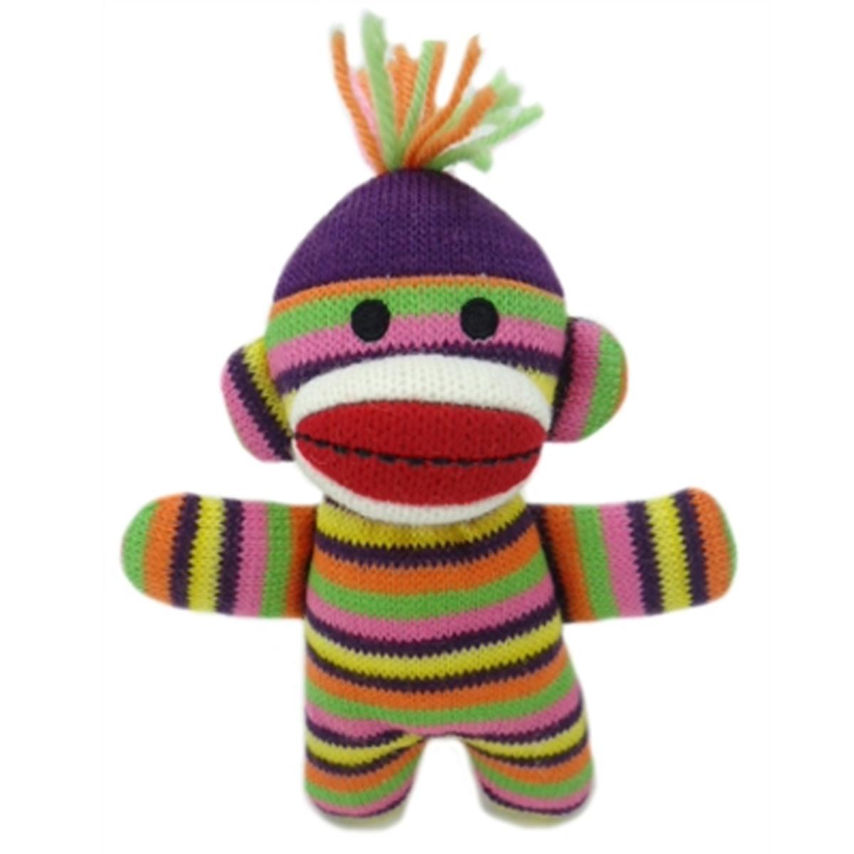 Lulubelles Power Plush Dog Toy - Sock Monkey Baby Lala