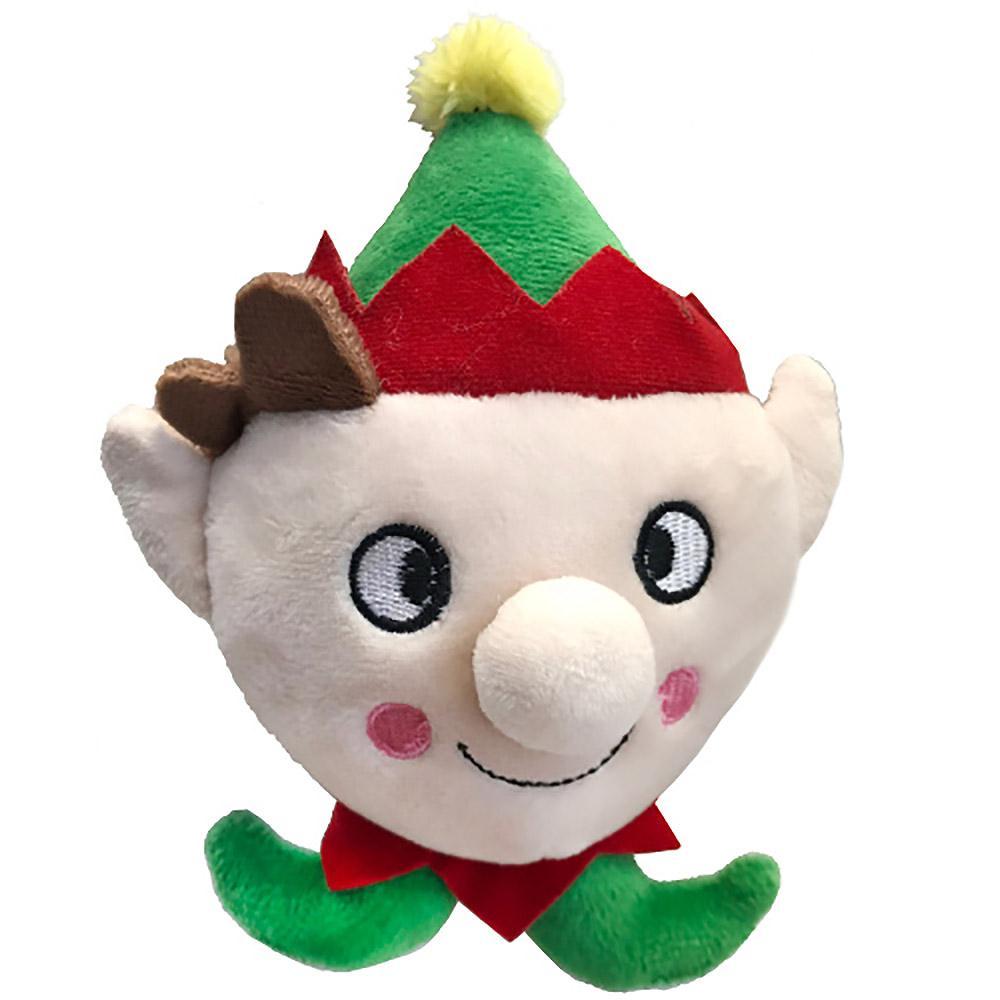 Lulubelles Power Plush Lil' Feet Holiday Dog Toy - Skittle Elf