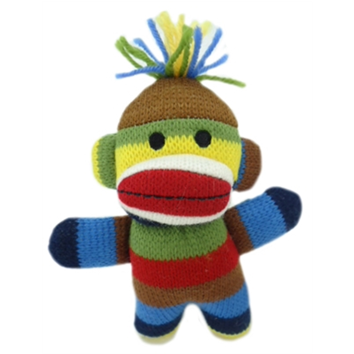 Lulubelles Power Plush Dog Toy - Sock Monkey Baby Ziggy