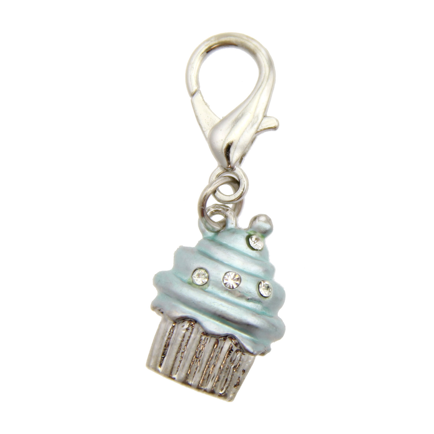 Luxe Cupcake D-Ring Pet Collar Charm by foufou Dog - Blue
