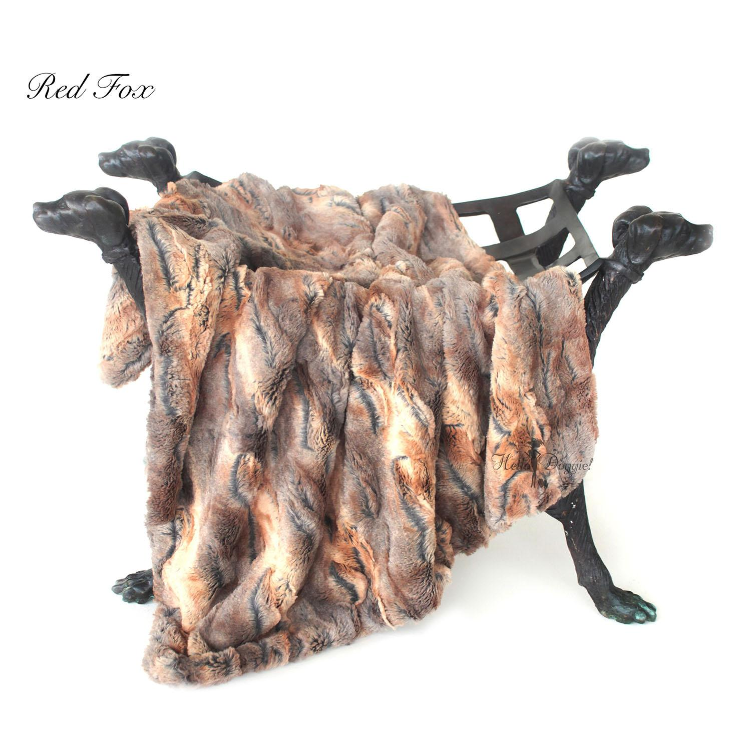 Luxe Dog Blanket by Hello Doggie - Red Fox