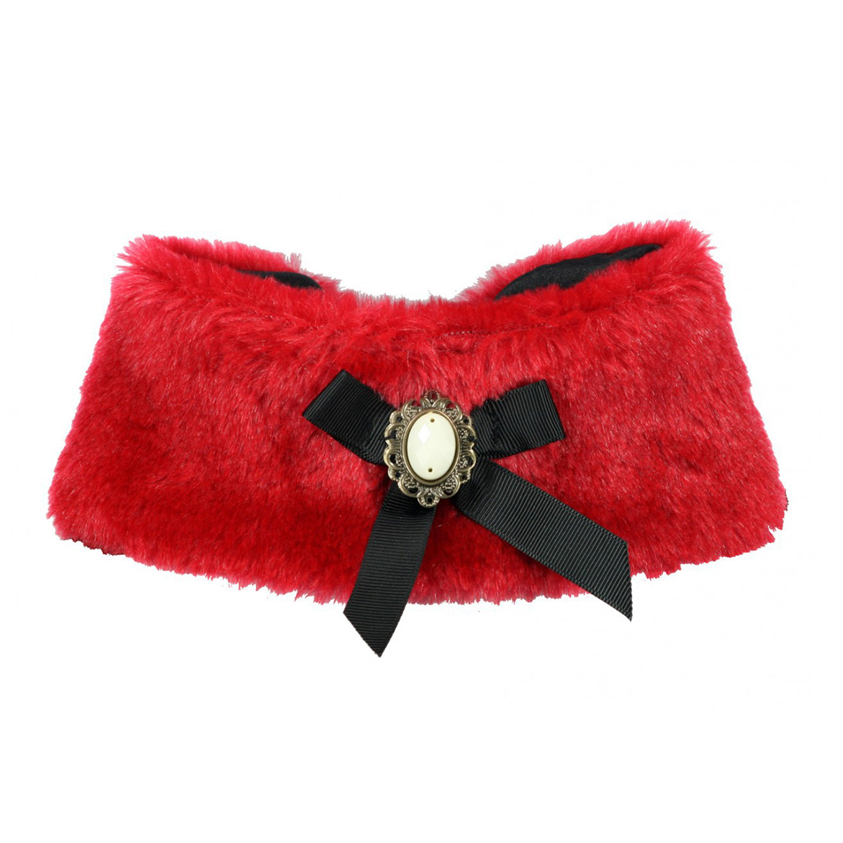 Luxurious Fur Dog Cape by Hip Doggie - Red