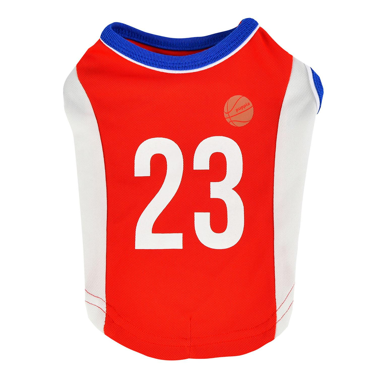 Buzzer Beater Basketball Dog Jersey by Puppia - Red