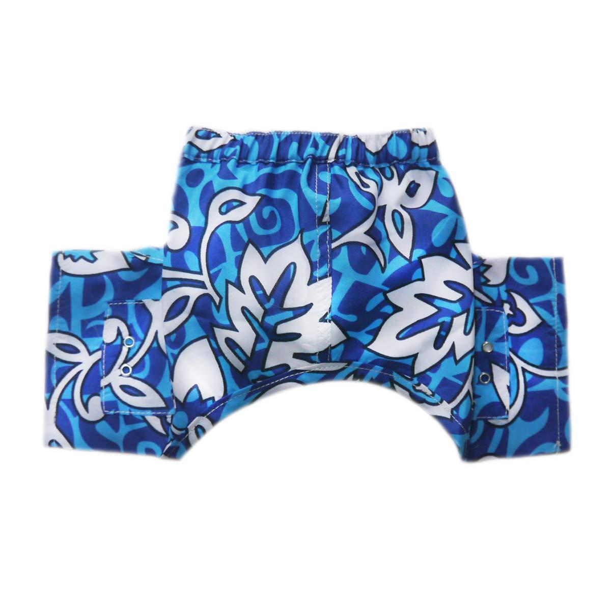 Malibu Dog Swim Trunks - Blue
