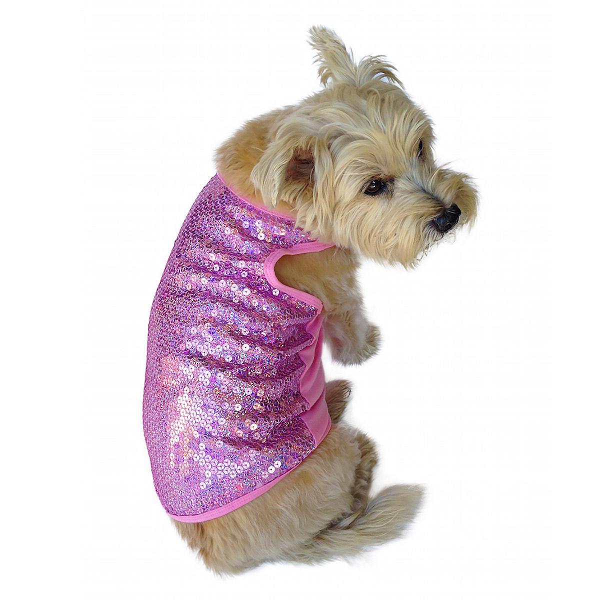 Malibu Dream Sequin Dog Tank - Pink