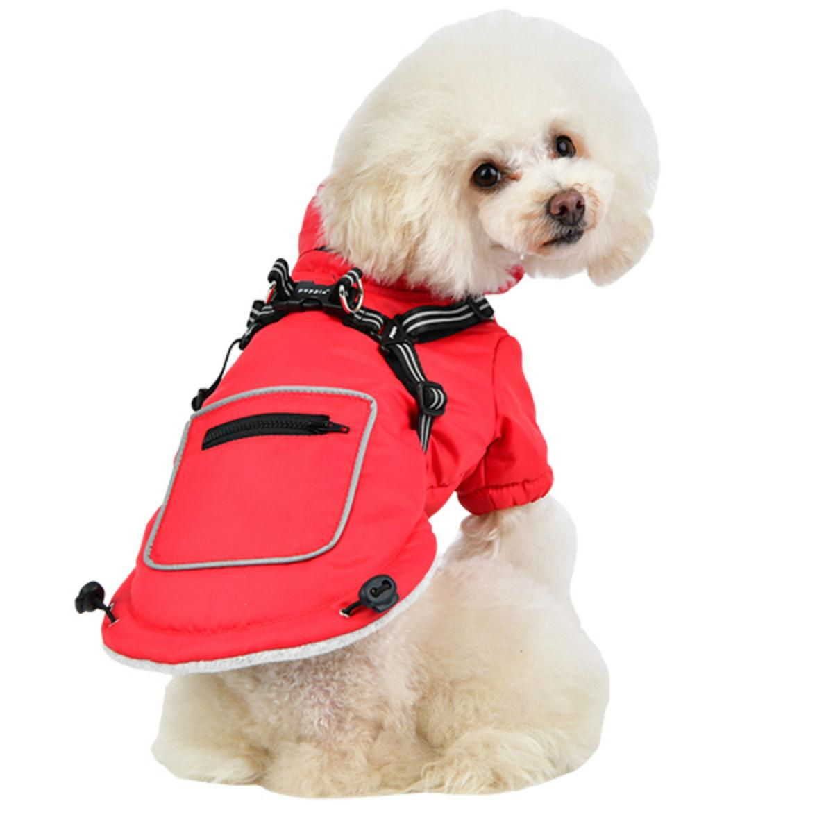 Mallory Fleece Dog Vest By Puppia - Red