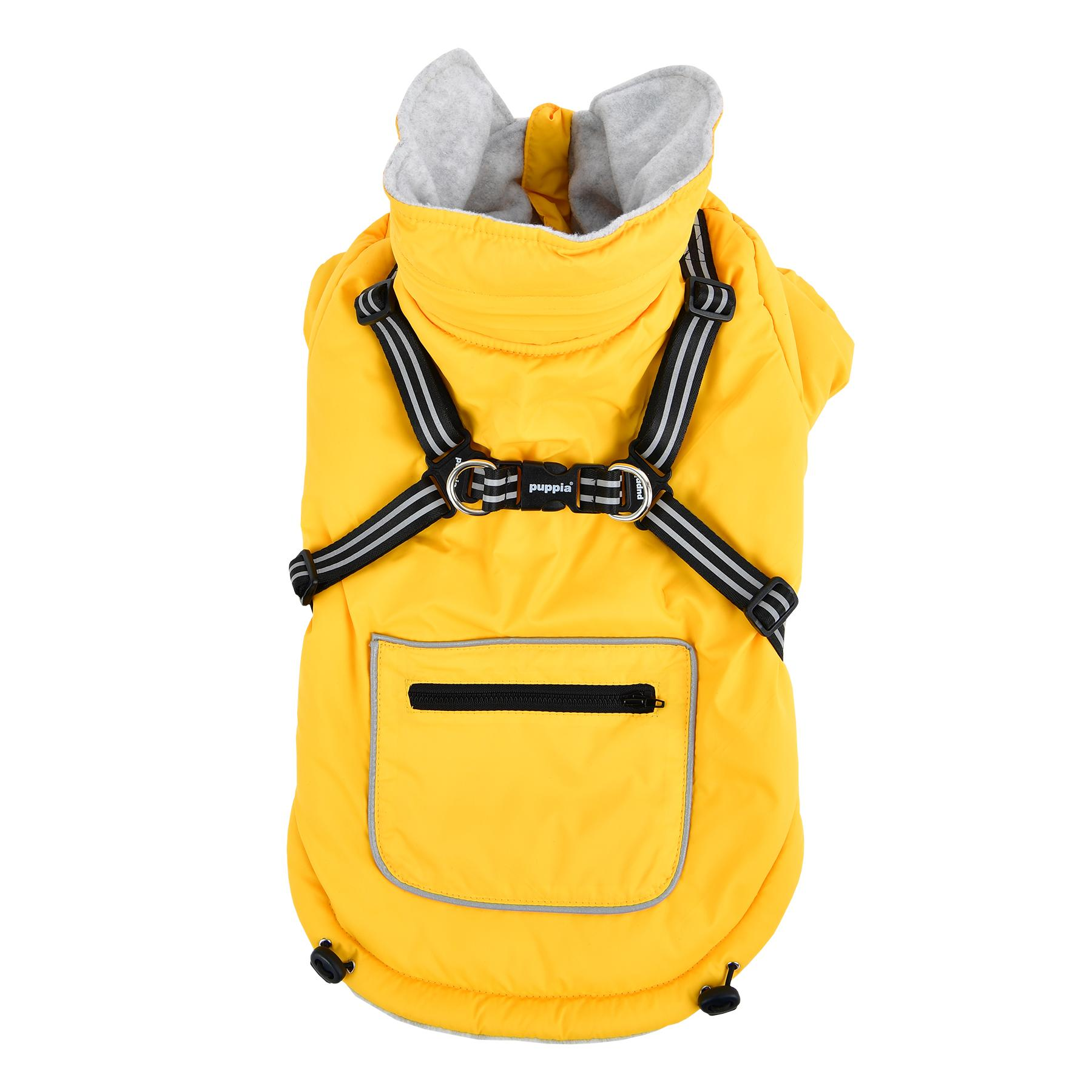Mallory Fleece Dog Vest By Puppia - Yellow