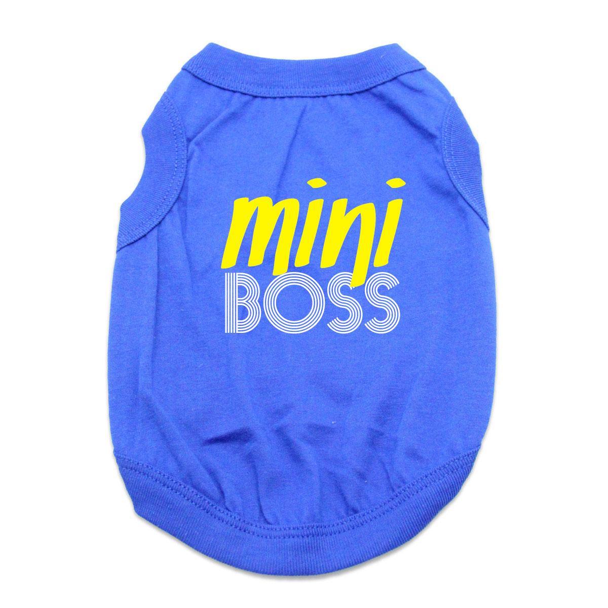 Mini Boss Dog Shirt - Blue
