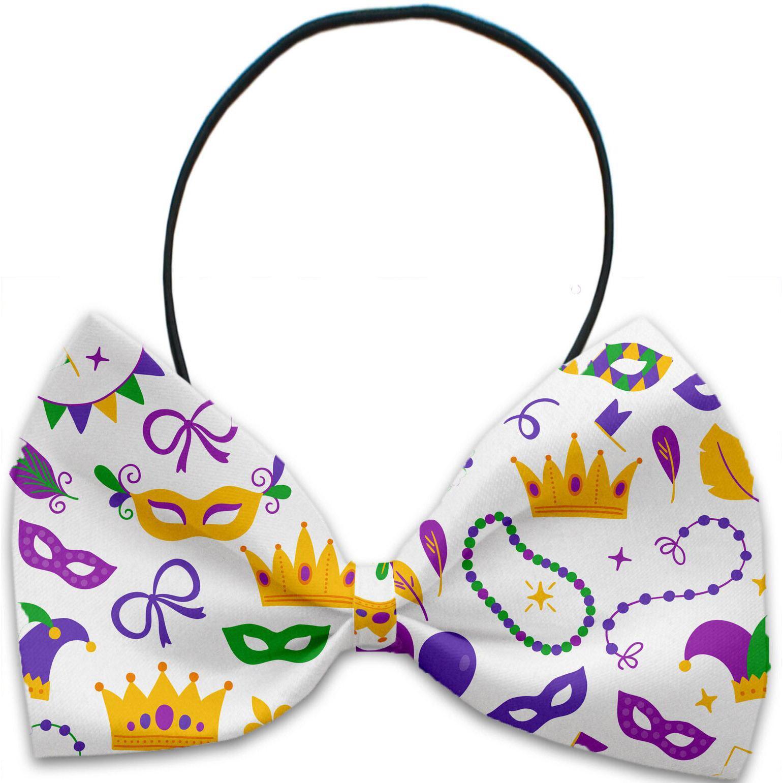 Mirage Mardi Gras Masks Dog Bow Tie