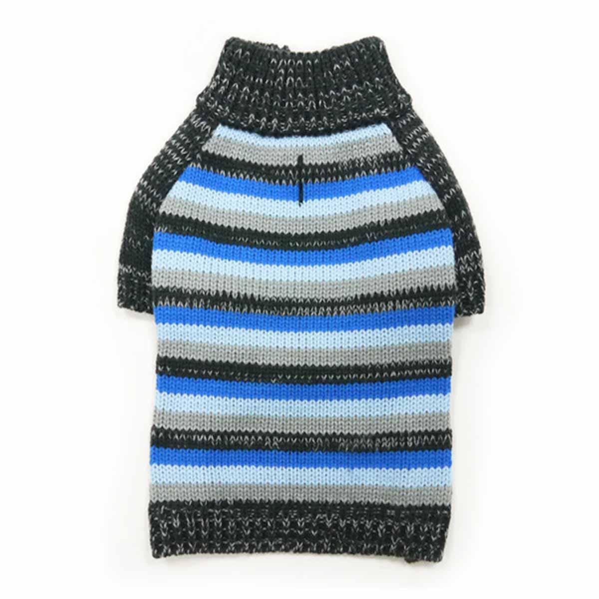 Marl Stripes Dog Sweater by Dogo - Blue
