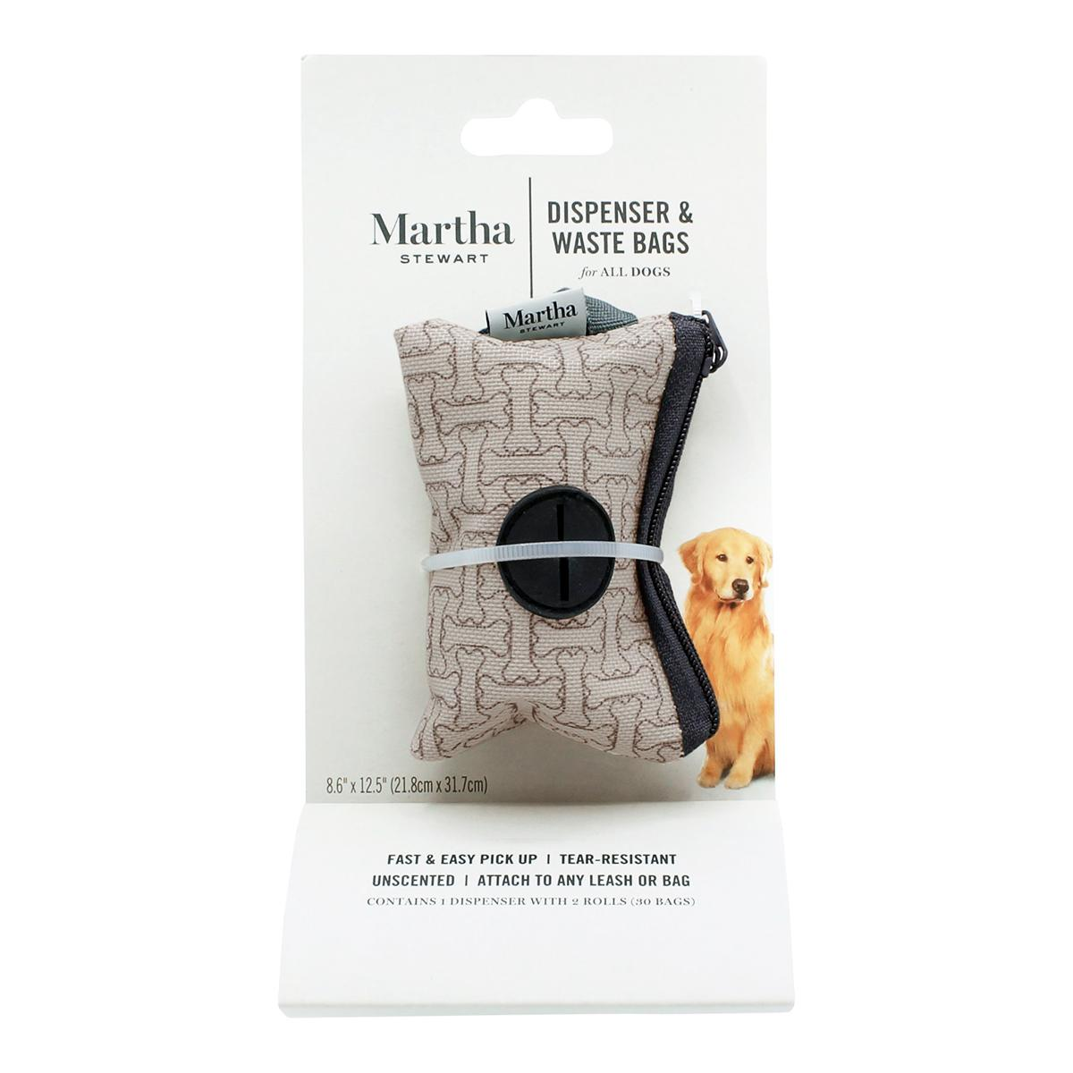Martha Stewart Pets Dog Waste Bag Dispenser with Bags