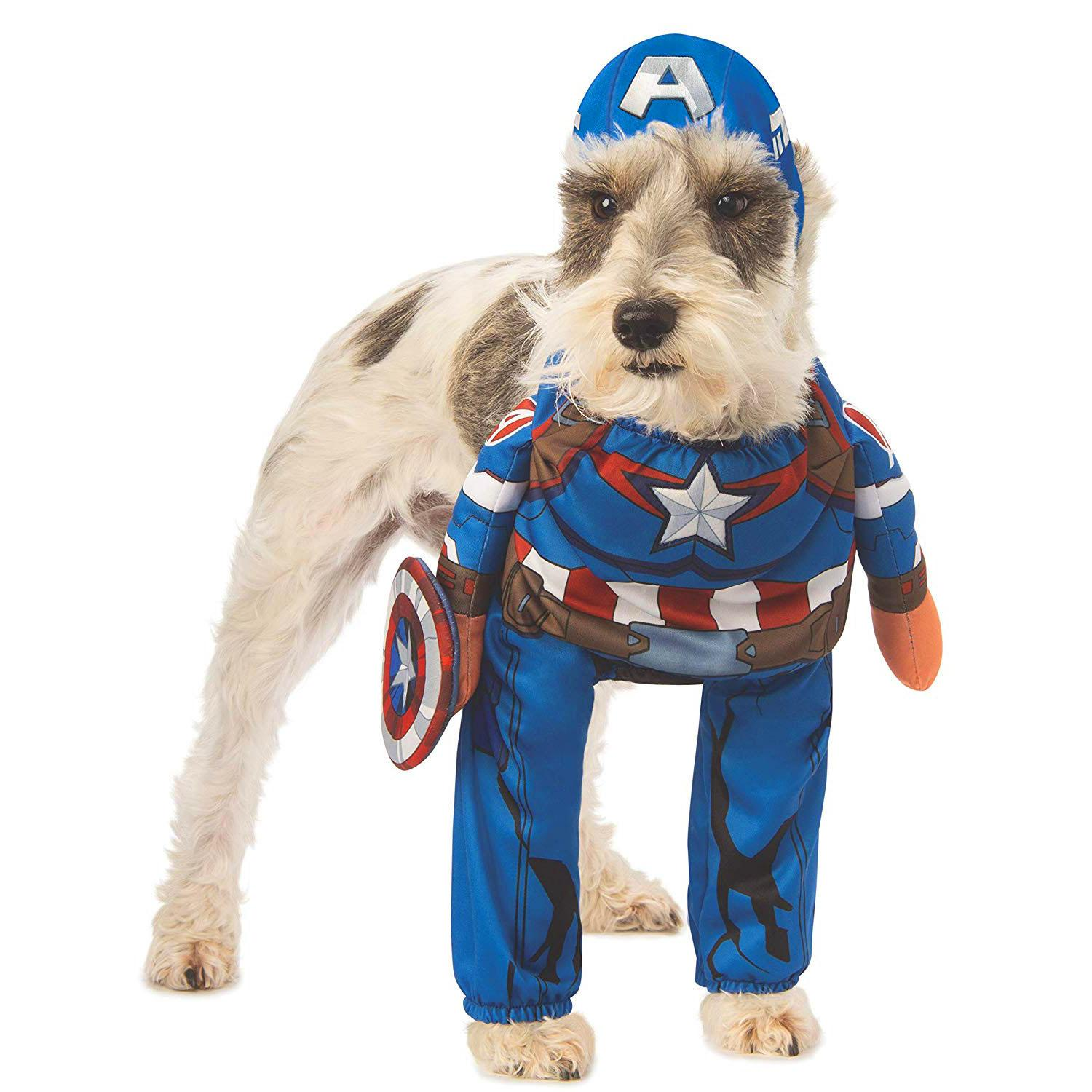 Marvel Walking Captain America Dog Costume