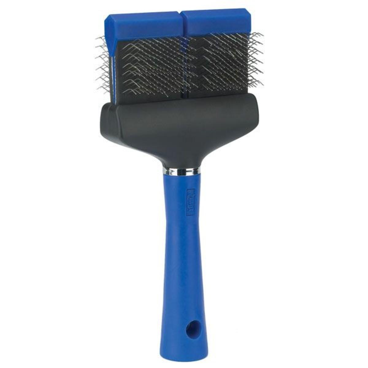 Master Grooming Tools Flexible Slicker Dog and Cat Brush - Extra Firm Blue