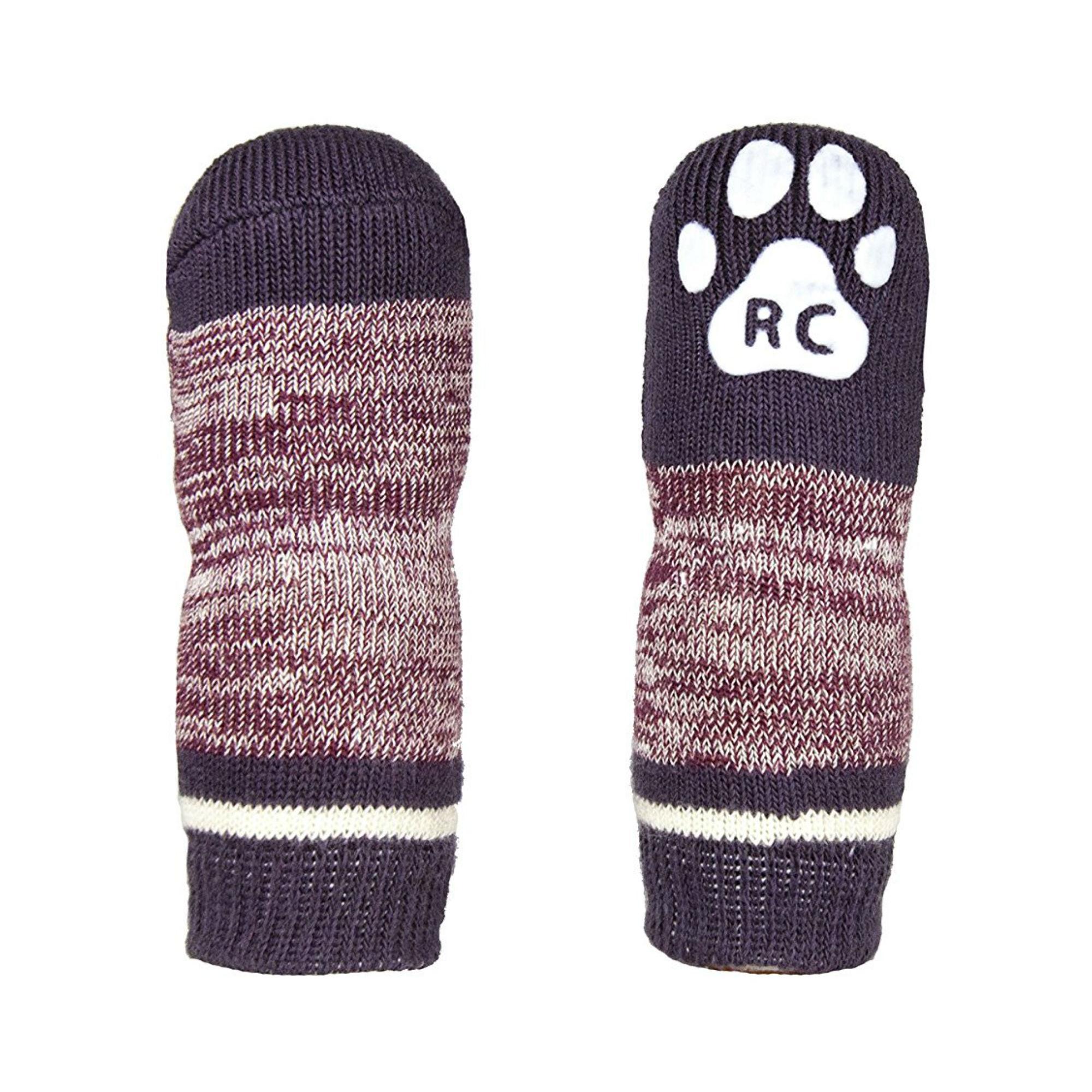 Melange PAWks Dog Socks - Burgundy