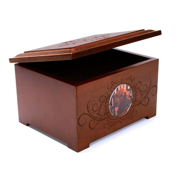 Memorial Pet Urn Memory Box - Chestnut