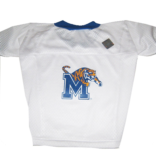 various colors 47a7c 70dd4 Memphis Tigers Dog Jersey - White