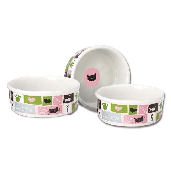 Meow Flair Cat Bowl Pink With Same Day Shipping Baxterboo
