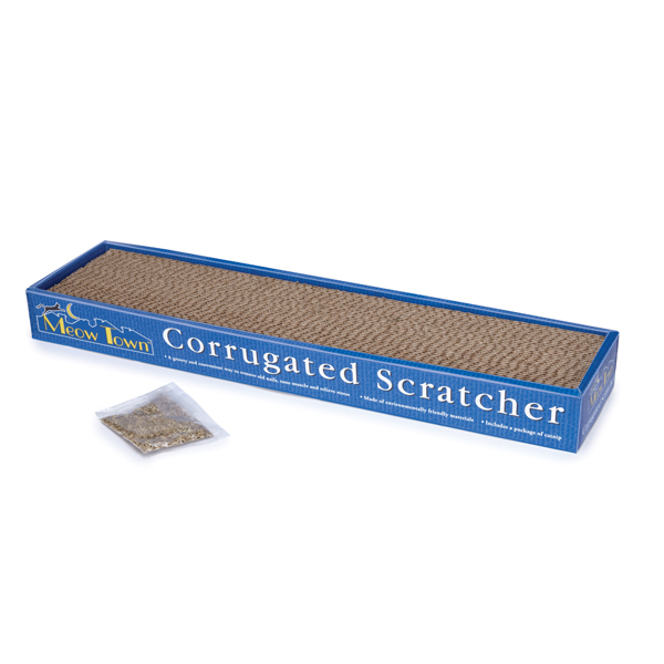 Meow Town Corrugated Cat Scratcher
